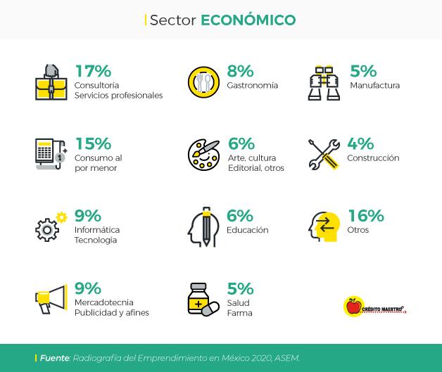 Emprendimiento por sector
